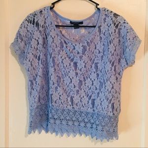 Forever 21 Baby Blue Top